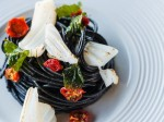 Cold spaghetti and squid ink (2)