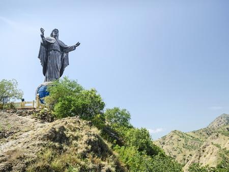 cristo rei landmark statue near dili east timor